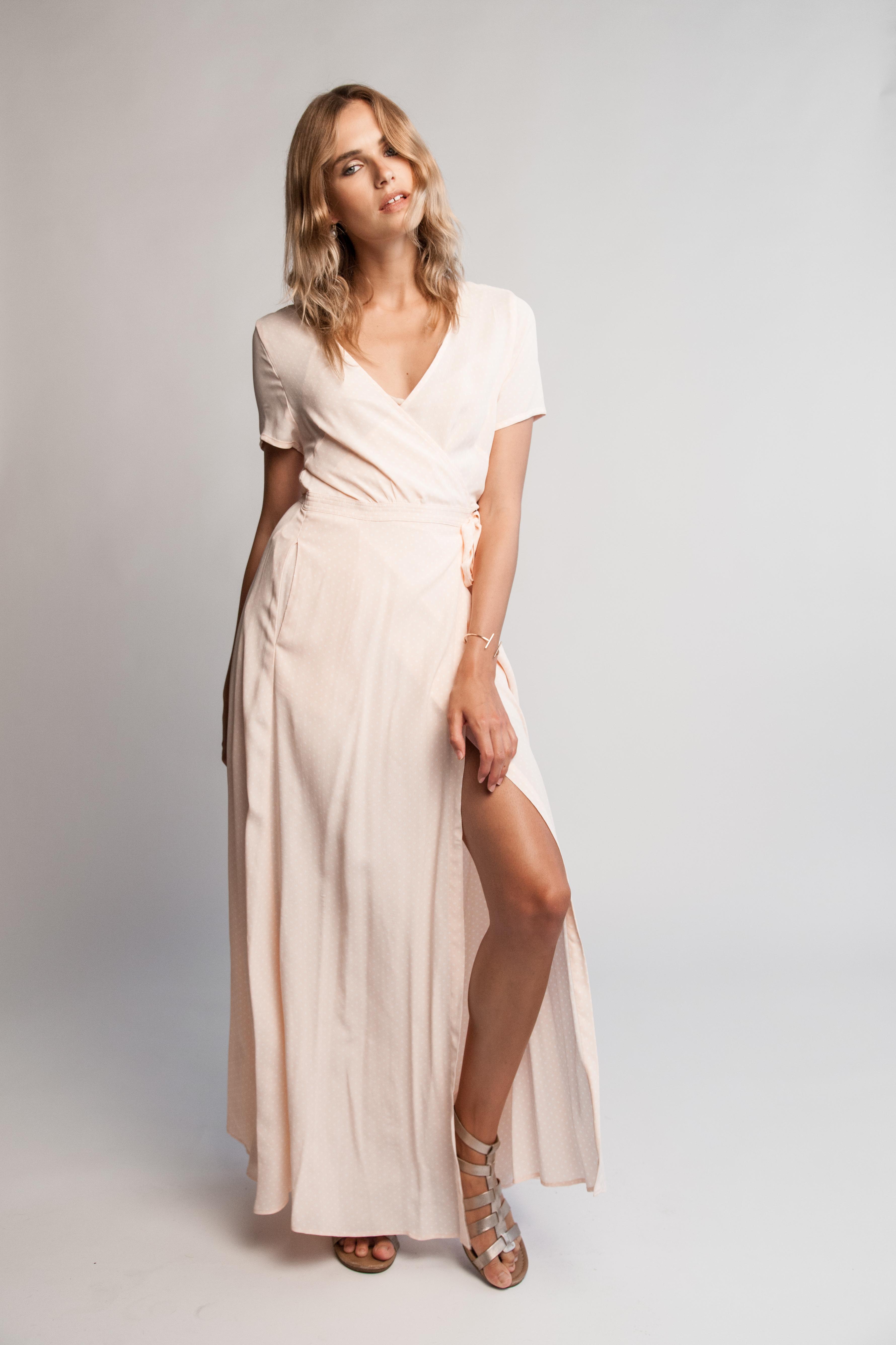 Charlotte Classic Wrap Dress Nudz Beachwear